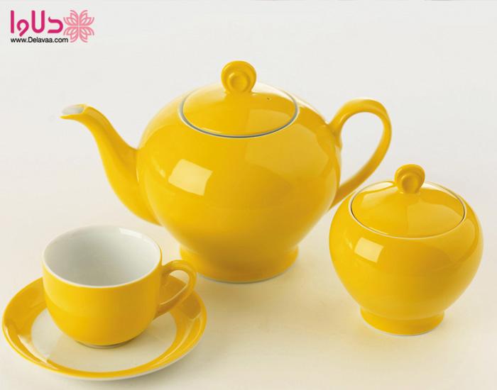 سرویس چایی خوری آفتاب چینی زرین سری ایتالیا اف