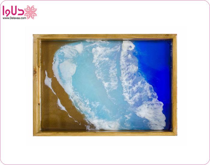 سینی چوبی مدل دریا کد st01