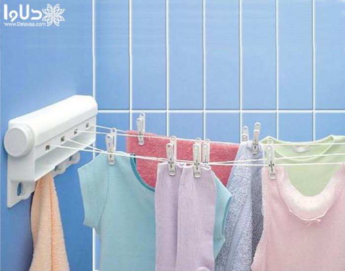 بند رخت دیواری تاشو یا رخت آویز دیواری جمع شو