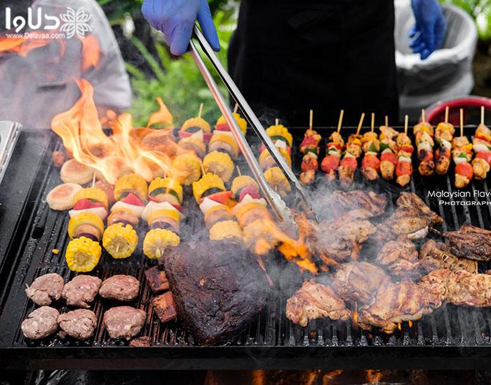 تفاوت گریل کردن گوشت با باربیکیو